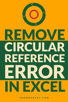 Circular reference error is quite common but you work with formulas in Excel. This usually happens when you end of referring to the same cell in which you have the formula.    In this Excel tutorial, I will show you how to find and remove circular reference errors in Excel.    #Excel #ExcelTips #MSExcel  #ExcelFormulas #CircularReference Microsoft Excel Formulas, Excel For Beginners, Excel Hacks, Pivot Table, Simple Words, How To Remove, Told You So, Tutorials, Tips