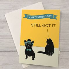 'still got it' father's day card by well bred design | notonthehighstreet.com