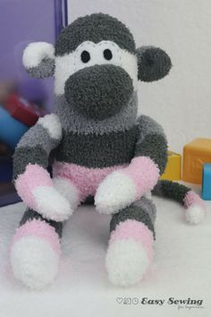 How to Make a Sock Monkey | Turn old socks into DIY toys with this tutorial for how to make a sock monkey!
