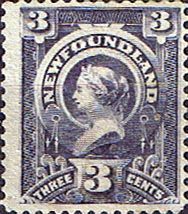 Newfoundland 1890 SG 55 Queen Victoria Fine Mint Scott 60 Other North American and British Commonwealth Stamps HERE!
