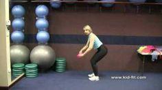 How To Teach Preschool Fitness: Preschool Activities Using Scarves, via YouTube.