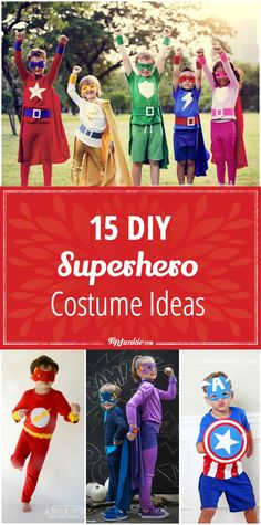 15 DIY superhero costume ideas your kids will love! Fun for boys and girls!