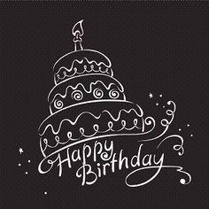 Happy Birthday Wishes png | Birthday Black & White | Bottle Greetings