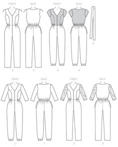 M7292 Misses'/Miss Petite Jumpsuits and Belt