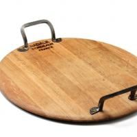 Provence Platters are the real deal—made from genuine repurposed French Oak wine casks with hand-forged hardware. $140 each, provenceplatters.com