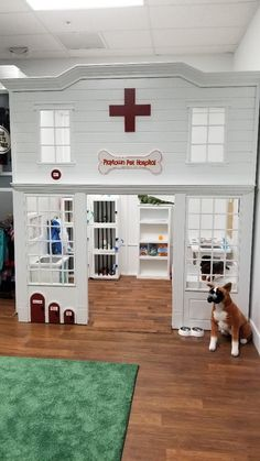 This adorable pet hospital/vet clinic is ready for lots of play fun, with an pet washing station and Lilli-Pup Operations Table.