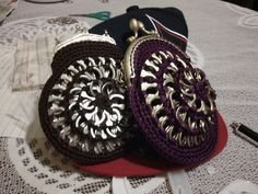 Grape soda and rootbeer coin purses