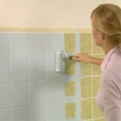 How to paint bathroom tiles. No more worry about buying a house with outdated tile.