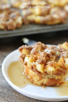French Toast Muffins: 1 loaf French bread, cut or torn into 1/2 inch cubes (about 12 cups of bread); 2 1/2 cups milk; 6 large eggs; 1/2 cup granulated sugar; 1 tablespoon vanilla extract; 1 teaspoon ground cinnamon    For the Cinnamon Streusel Topping - 1/4 cup cold butter; 1/4 cup light brown sugar; 1/4 cup all-purpose Gold Medal flour; 1/8 teaspoon ground cinnamon; Pinch of salt