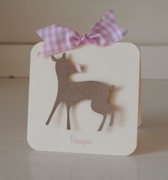 Fawn Deer Invitations Thank You Cards Baby by CardinalBoutique, $74.00