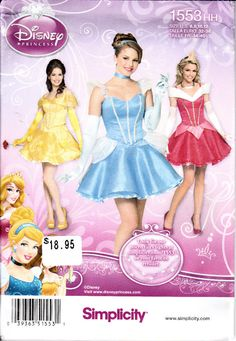 Simplicity 1553 Misses Disney Princess Corset Skirt Sleeping Beauty Cinderella Beauty and the Beast Costume Sewing Pattern Sizes 6-12 UNCUT