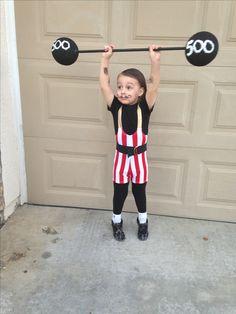 Strong man Halloween costume circus weightlifter