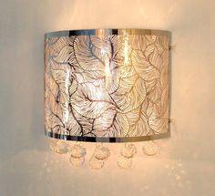 Wall Lamp Chandelier Silver Fine Crystal Ceiling Light Pendant Chrome New Ebay