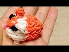 Rainbow Loom GUINEA PIG / HAMSTER. Designed and loomed by DIYMommy. Click photo for YouTube tutorial. 05/09/14.