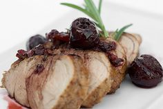 A quick and easy pork tenderloin recipe, with a sauce of fresh cherries, balsamic and rosemary. Simple enough for weeknights, special enough for company!