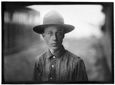 """burnedshoes:  © Lewis Wickes Hine, ca. 1917, """"Portrait, Army Camp"""""""