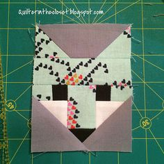 mini Fancy Fox block LOVE THESE LITTLE FOXES !!! c@