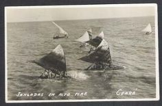 Postal Antigo Jangada Em Alto Mar. Embarcações Ceara