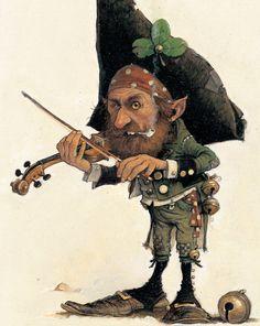 Fiddle & Shamrock by Jean-Baptiste Monge