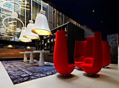 Ten Best Designed Hotel Lobbies From Around The World - Blogs - Archh.  And I only really like one of them...