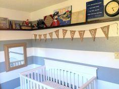 Pirate Nursery, I love that this nursery theme is not so generic. boy nursery, pirate nursery theme, gray and white nursery