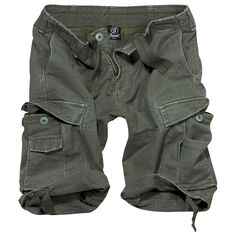 Vintage olive green army shorts