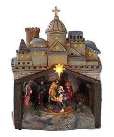Loving this Rotating Nativity LED Musical Décor on #zulily! #zulilyfinds
