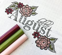 I did a little August cover page and I tried a new font...got it from 1001fonts.com and attempted to replicate it. I'm really into trying some new type styles. I hope everyone has had a great weekend!