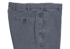 Howard Yount blue garment-dyed cotton trousers