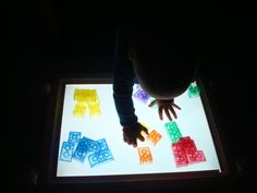Light Panel - Who? What? When? Where? Why? How? | Activities For Children | Playing with Light | Play At Home Mom