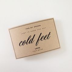 Hey, I found this really awesome Etsy listing at https://www.etsy.com/listing/179608709/cold-feet-sock-wrapper-just-in-case-you