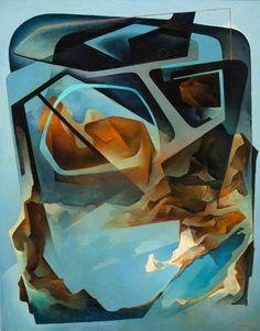Tullio Crali, Paesaggio in carlinga 1966 - Olio su tela, 95x75cm
