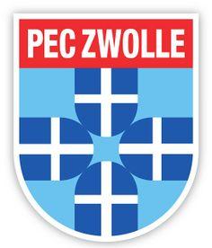 PEC Zwolle (Prins Hendrik Ende Desespereert Nimmer Combinatie Zwolle) | Country: Netherlands / Nederland. País: Países Bajos. | Founded/Fundado: 1910/06/12 | Badge/Crest/Logo/Escudo.