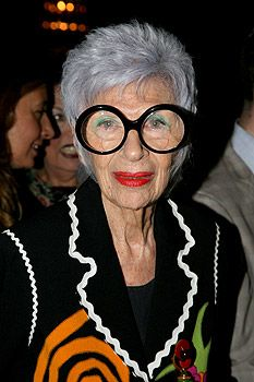 Iris Apfel (born August 29, 1921) is an American businesswoman, interior designer, and fashion icon. Intelligent, beautiful & respected at 91.