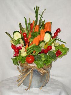 kids vegetable bouquets | Ph: (810) 765-8121