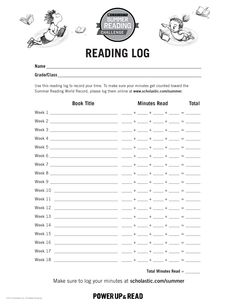 Reading Log | Summer Reading Challenge 2015. Kids can track their reading progress all summer long with this handy reading log! #summerreading