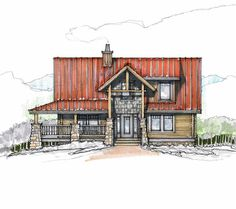 Baby Doll Front Elevation -- Natural Element Homes