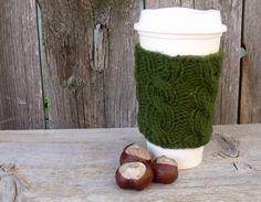 A personal favorite from my Etsy shop https://www.etsy.com/listing/203105705/coffee-cup-cozy-coffee-mug-cozy-cable