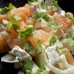 Grapefruit, fennel and feta salad