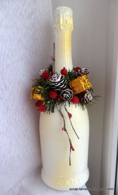 Christmas Bottle Decoration