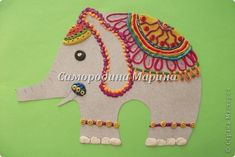 Лепка - Пластилинография Наши индийские слоны