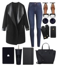 """""""Black Aesthetic"""" by ziamsangelz on Polyvore featuring Columbia, Givenchy, H&M, The Row, Mulberry, Kate Spade and Shinola"""