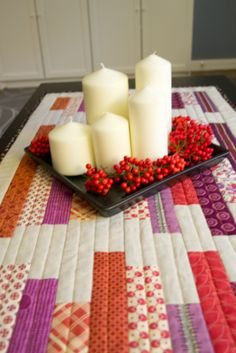 Table runner by Lyanna at Purple Panda Quilts: Tutorial