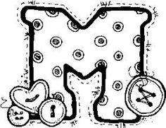m por Caren Patchwork Alphabet Templates, Applique, Fancy Letters, Pintura Country, Letter Set, Alphabet And Numbers, Alphabet Letters, Coloring Pages, Stencils