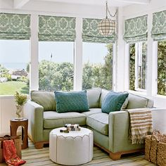 Great colors and Roman shades for office