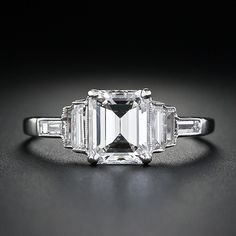 lang antiques emerald cut art deco ring oh how i love! kd Lang Antiques Emerald Cut Art Deco Ring - Love the Milgrain! Art Deco Ring, Art Deco Diamond Rings, Art Deco Jewelry, Diamond Jewelry, Jewellery Box, Diamond Brooch, Jewelry Rings, Solitaire Diamond, Jewellery Shops