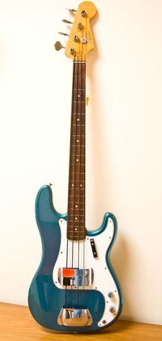 1965 Fender Precision Bass, Ocean Turquoise - the only bass that matters. Fender Bass Guitar, Fender Electric Guitar, Stratocaster Guitar, Fender Guitars, Guitar Chord Chart, Guitar Chords, Guitar Amp, Cool Guitar, Gretsch