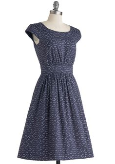 Emily and Fin Day After Day Dress in Blue Dots | Mod Retro Vintage Dresses | ModCloth.com