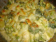 Gratinado de Brócolis e Batatas