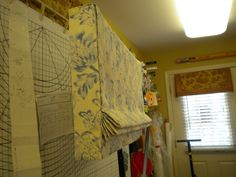 Stationary Roman shade with full length returns. Judy Peters, www.palmettodrapery.com